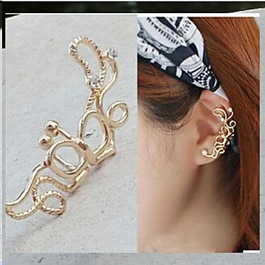 Pentru femei Cătușe pentru urechi - Diamante Artificiale Lux stil minimalist Bijuterii Argintiu / Auriu Pentru Zilnic