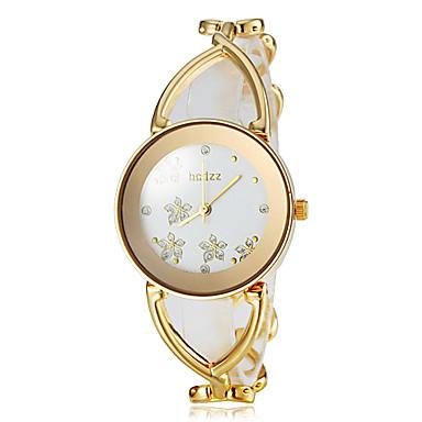 Pentru femei femei Ceasuri de lux Ceas de Mână ceas de aur Japoneză Alb / Auriu Analog Floare Modă Elegant - Auriu Argintiu Roz auriu Un an Durată de Viaţă Baterie / SSUO SR626SW