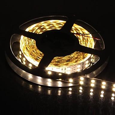 dublu rând 600x5050 smd 6000lm 144W cald lumina benzi de lumină albă LED (5 metri 12v / dc)