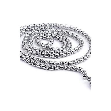 Lănțișoare Oțel titan Argintiu Coliere Bijuterii Pentru Zilnic Casual