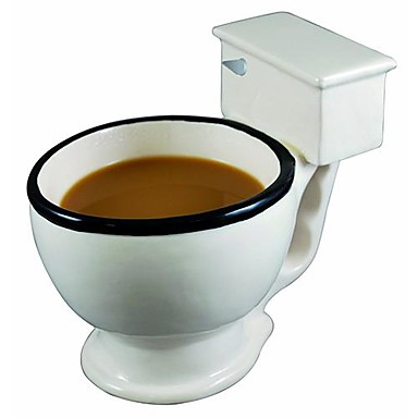 cheap Coffee/Tea Tools & Drinkware-Big Mouth Toys Large Funny Toilet Coffee Mug (Ceramic 6.8X4.8X6 inch)