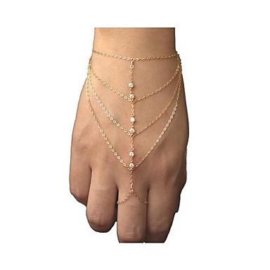 Pentru femei Ring Bracelets Sclavii de aur femei European stil minimalist Modă Ștras Bijuterii brățară Pentru Cadouri de Crăciun Petrecere Zilnic Casual
