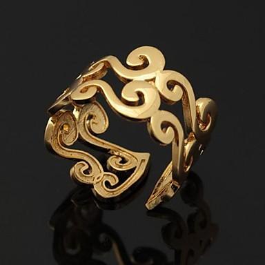 Pentru femei Inele Cuplu Band Ring Inel de declarație Auriu Argintiu Placat cu platină Placat Auriu femei Neobijnuit Design Unic Nuntă Petrecere Bijuterii Ajustabil