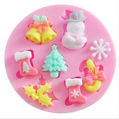 1 buc Silicon Ecologic Crăciun Reparații Tort Biscuiți Plăcintă coacere Mold Instrumente de coacere