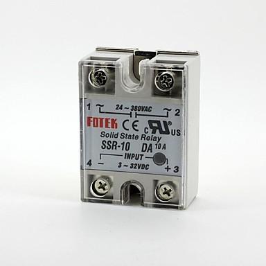 voordelige Relais-Fotek solid state relais éénfase SSR-10da dc-ac 3-32v / 24-380v 10a