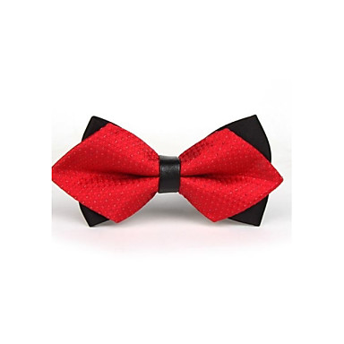 رخيصةأون ربطات العقدة-ببيونة لون سادة رجالي حفلة / عمل / أساسي