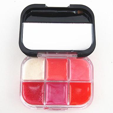 6 culori Gelfoam Luciu de buze Ud / Sclipici Lac Colorat / Umezeală Machiaj Cosmetic Accesorii de Ingrijire