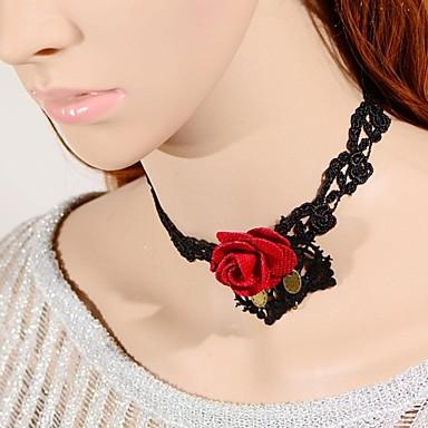 Mujer Gargantillas Collar Collares Declaracion Tela De Encaje