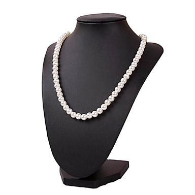 c912bfdb6 Klasická pěkná panenka náhrdelník stojí černé dřevo kůže šperky displeje (1  ks) 1808379 2019 – €13.99