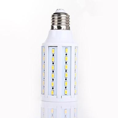 Becuri LED Corn 950-1100LM E14 B22 E26 / E27 Rotabil 60 LED-uri de margele SMD 5730 Decorativ Alb Cald 220-240 V / CE