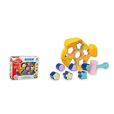olcso puzzle játékok-hal alakú gyerekek épületben blokkok játékok