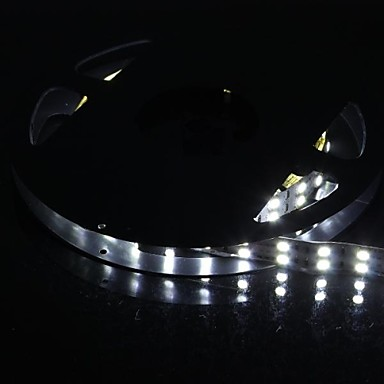 dublu rând 600x5050 144W smd 6000lm lumina alba benzi de lumină LED (5 metri 12v / dc)