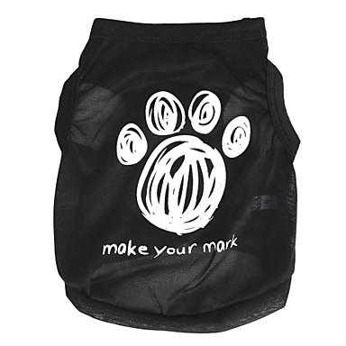 Pisici Câine Tricou Îmbrăcăminte Câini Negru Costume Terilenă Desene Animate XS S M L