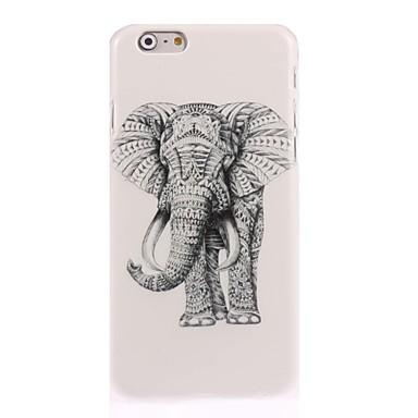 Недорогие Кейсы для iPhone 7 Plus-Кейс для Назначение Apple iPhone 7 Plus / iPhone 7 / iPhone 6s Plus С узором Кейс на заднюю панель Животное / Слон Твердый ПК