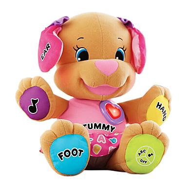olcso Plüssjátékok-has zenei kutya nevetni és tanulni kiskutya plüss divat babák