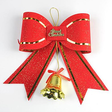 20*18CM Christmas Decoration Bow with Bell