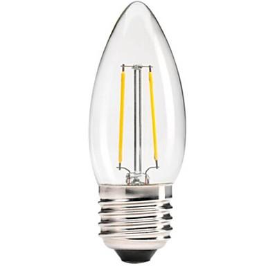 1 buc 2 W Bec Filet LED 400 lm E26 / E27 C35 4 LED-uri de margele COB Intensitate Luminoasă Reglabilă Decorativ Alb Cald 220-240 V / RoHs
