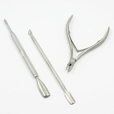 3pcs Oțel Unelte pentru unghii Foarfecă Dispozitiv de Îndepartare a Calusurilor & Bătăturilor Pentru Unghie Unghie deget picior Mat nail art pedichiura si manichiura Design Unic / Clasic Zilnic