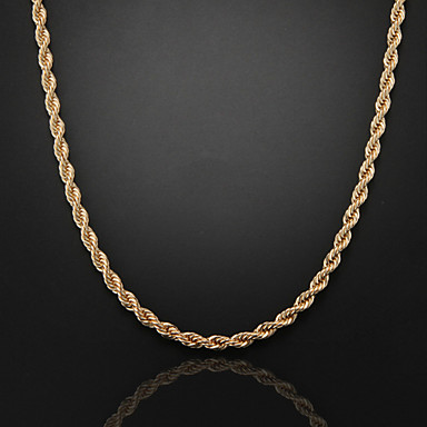 Chain Necklace Figaro Chunky Foxtail chain Cross Unique Design Fashion Dubai 18K Gold Plated Silver Plated Gold Plated Rose Gold Necklace Jewelry For Christmas Gifts Wedding Party Gift Daily Casual