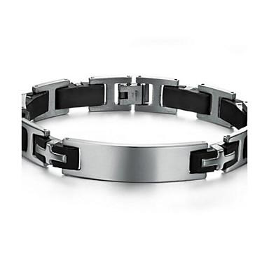 Недорогие Браслеты-Z&X® мужская мода направленности личности браслет силиконовые браслеты титана