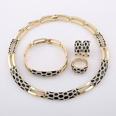 plaqué or italien noir dessin de couleur pourpre / ou un motif bijoux  soirée fête mariage ensembles de bijoux A074 de 1943284 2018 à \u20ac35.99