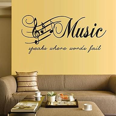 Muzică Cuvinte & Citate Perete Postituri Autocolante perete plane Autocolante de Perete Decorative, Vinil Pagina de decorare de perete