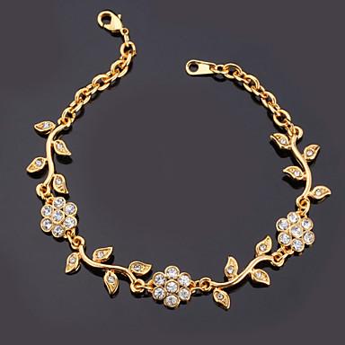 Pentru femei Diamant sintetic Brățări cu Lanț & Legături Brățară femei Modă Ștras Bijuterii brățară Auriu Pentru Cadouri de Crăciun Nuntă Petrecere Ocazie specială Zi de Naștere Cadou / Placat Auriu