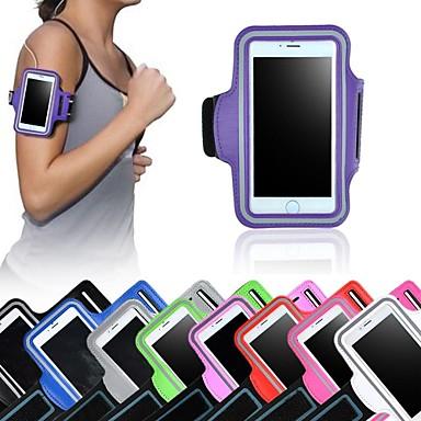 voordelige iPhone-hoesjes-hoesje Voor iPhone 6s Plus / iPhone 6 Plus / Universeel met venster / Armband Armband Effen Zacht tekstiili