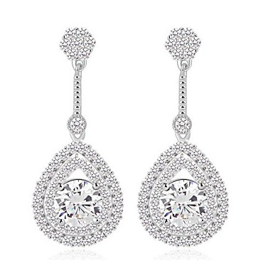 mode nya delikat trendigt varumärke swiss cubic zirconia silver droppe  örhängen bröllop smycken 1964013 2019 – €16.99 21dbec95a1c43