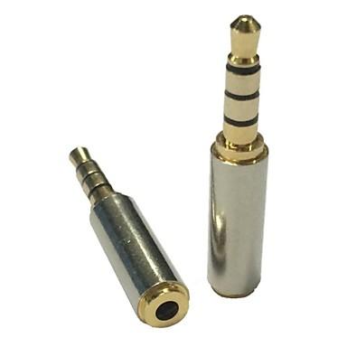 olcso Audió és videó-Arany 3.5mm férfi 2.5mm női sztereó audio fejhallgató mikrofon adapter átalakító