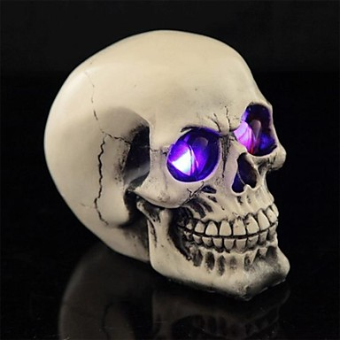 olcso Party kellékek-trükk led világító szemek gyanta sima felületi koponya a halloween (1 db)