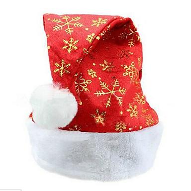 olcso Sapkák és fejfedők-unisex felnőtt arany hópelyhek pihe lapos él karácsony mikulás sapka