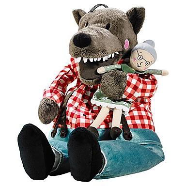 olcso Plüssjátékok-16inch nagy farkas nagymama kitömött állat plüss játék