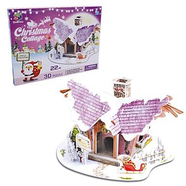 ieftine Cadouri-puzzle-uri 3D cadou de Crăciun casă inteligentă înger cabana (20buc)