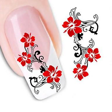 1 Pcs 3d Nail Stickers Water Transfer Sticker Nail Art Manicure