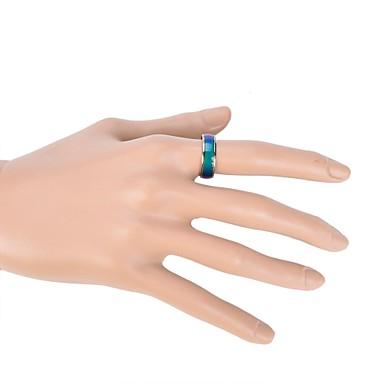 Pentru femei Band Ring Inel de Logodnă Email Aliaj Circle Shape femei Zilnic Casual Bijuterii culoare Gradient