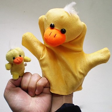 Amazing Little Yellow Duck Plush Animal Hand Puppets Children Toy