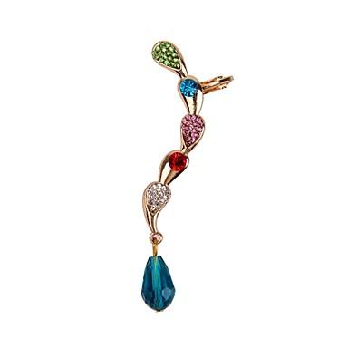 Pentru femei Cătușe pentru urechi Χάντρες femei Lux Ștras Diamante Artificiale cercei Bijuterii Pentru Nuntă Petrecere Zilnic Casual Sport