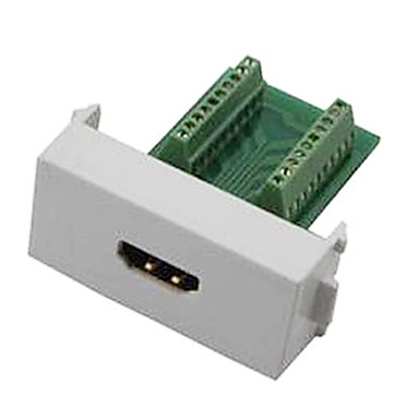 n86-600k adaptor HDMI v1.4 feminin sudare gratuit de suport panou de perete modul soclu 3d - alb + verde