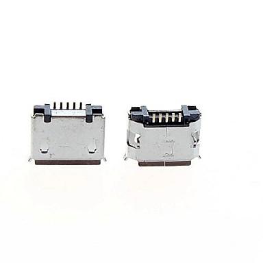 micro USB 5-pini soclu feminin - argint (pachet de 5 bucăți)