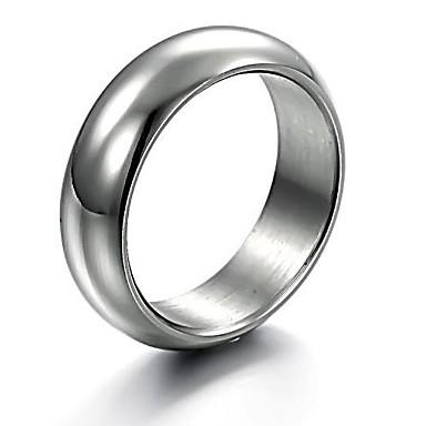 Bărbați Band Ring Oțel titan Aliaj Simplu Modă Inginerie Cadouri de Crăciun Nuntă Bijuterii