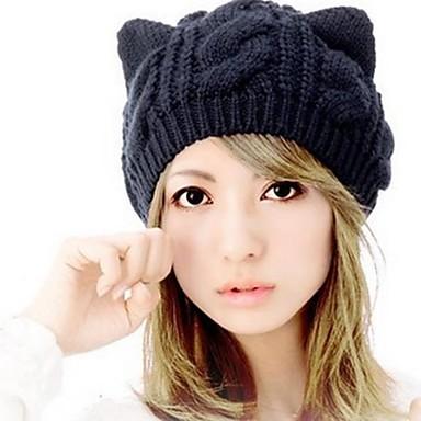 Női Egyszínű Gyapjú Sapka-csősál   Bájos   Tél   Sapka és kalap 2188726  2019 – €4.99 970b699c06