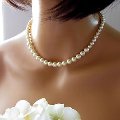 Perle Lanțuri Lănțișor femei Vintage European de Mireasă Perle Imitație de Perle Culoare ecran Coliere Bijuterii 1 buc Pentru Nuntă