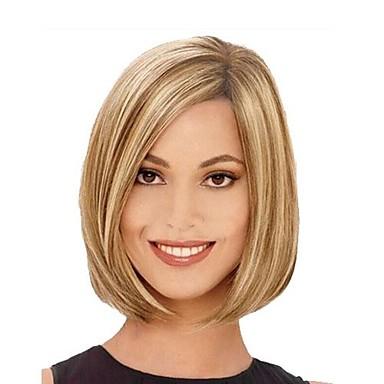 Peruci Sintetice Drept Drept Tunsoare bob Perucă Blond Maro cu Blond Păr Sintetic Pentru femei Păr Balayage / Șuvițe Partea laterală Blond hairjoy