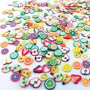 300 pcs Nail Art Kit Fruit Fimo Slices Încântător nail art pedichiura si manichiura Zilnic Fructe / Modă