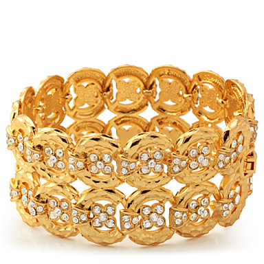 Pentru femei Bratari Wrap femei Ștras Bijuterii brățară Pentru Casual / Placat Auriu / Placat cu platină