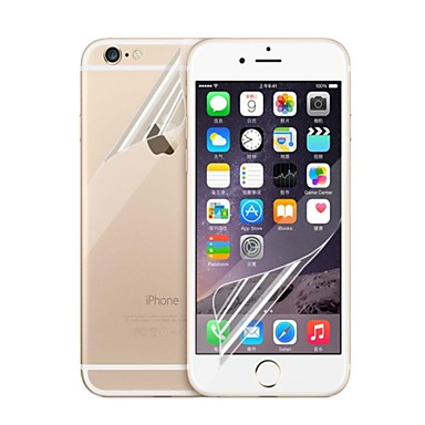 voordelige iPhone 6s / 6 Plus screenprotectors-Screenprotector voor Apple iPhone 6s Plus / iPhone 6 Plus 5 stuks Voorkant- & achterkantbescherming High-Definition (HD)