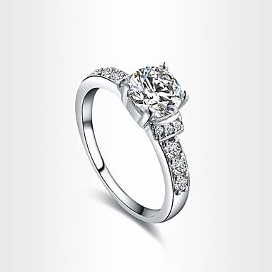 Pentru femei Inel de declarație / Belle Ring Cristal Cristal / Placat Auriu Modă / Bling bling Nuntă / Petrecere / Logodnă Costum de bijuterii / Zirconiu Cubic / Zirconiu