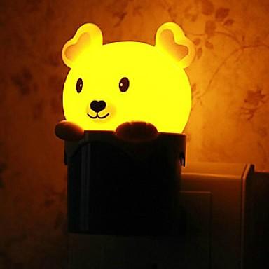 olcso Világító játékok-A fényérzékelő vezetett rajzfilm alakú mini fény karácsony kellékek (véletlenszerű szín)