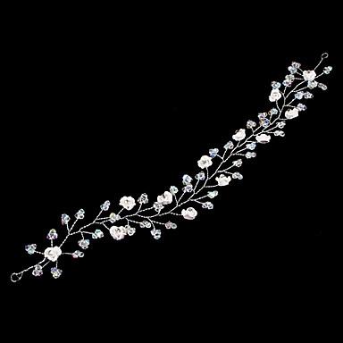 ieftine Bijuterii de Păr-Reșină / Aliaj Banderolele / Veșminte de cap / Lantul Capului cu Floral 1 buc Nuntă / Ocazie specială Diadema